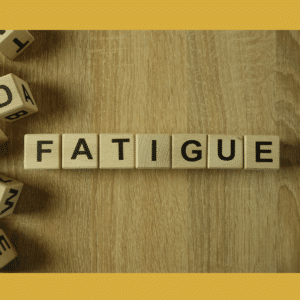 Fatigue in Scrabble letters